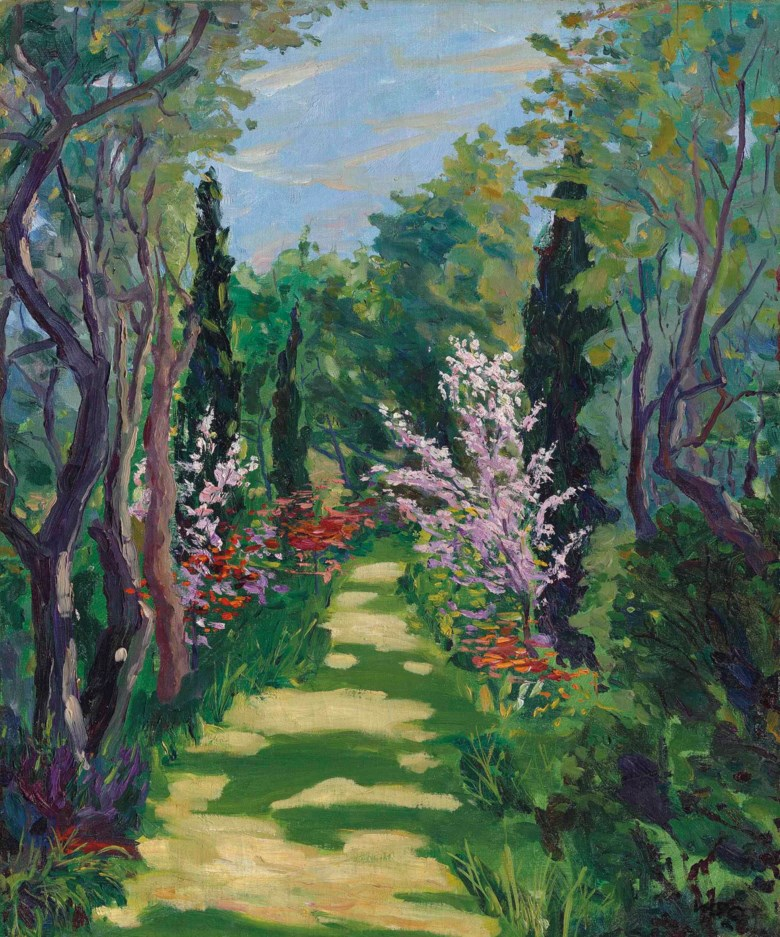 Sir Winston Churchill, O.M., R.A. (1874-1965), Garden Scene, painted in the early 1920s. 29 x 24 in (73.6 x 61 cm). Sold for £170,500 on 21 June 2016 at Christie's in London