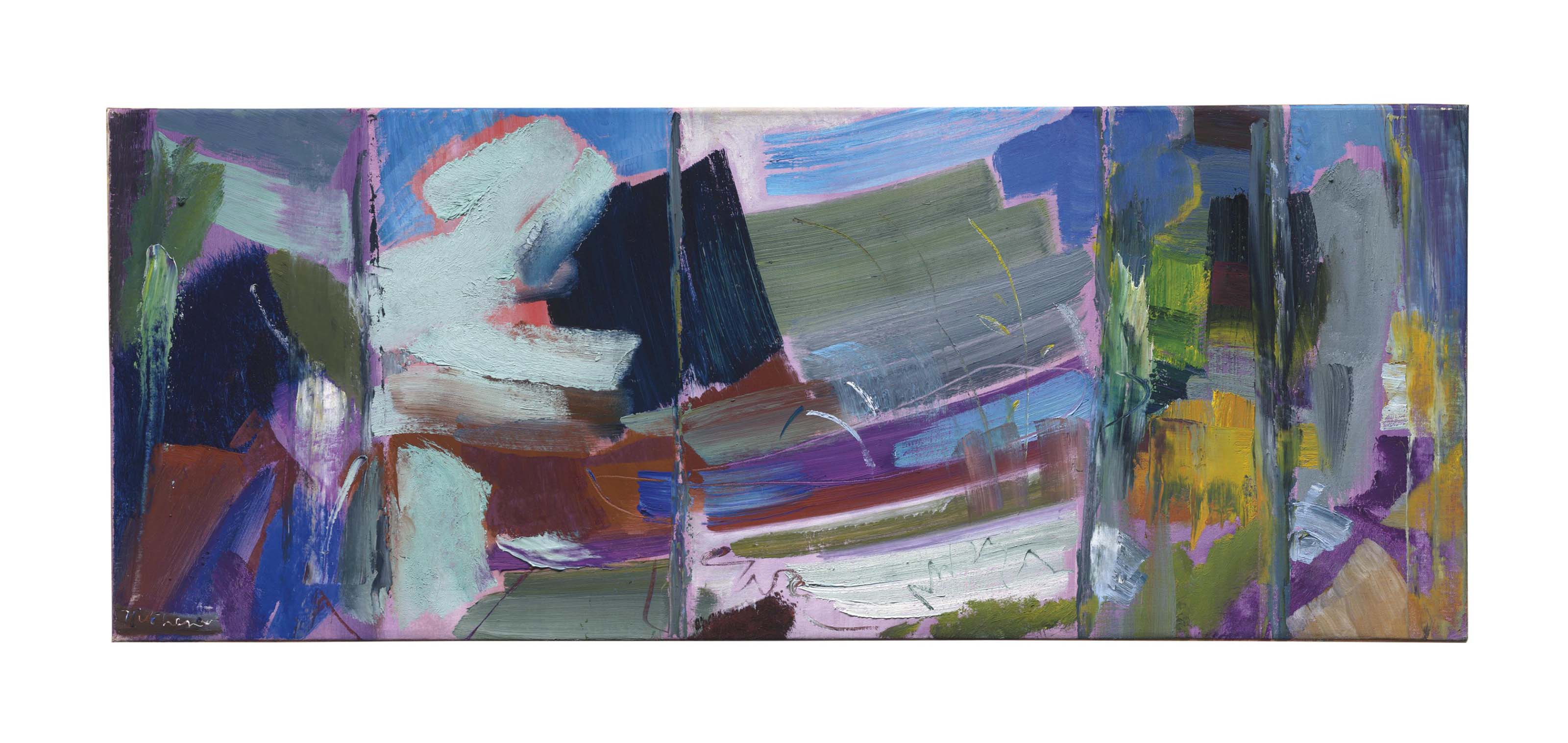 A Boat and Foliage in Five Chords, Second Study
