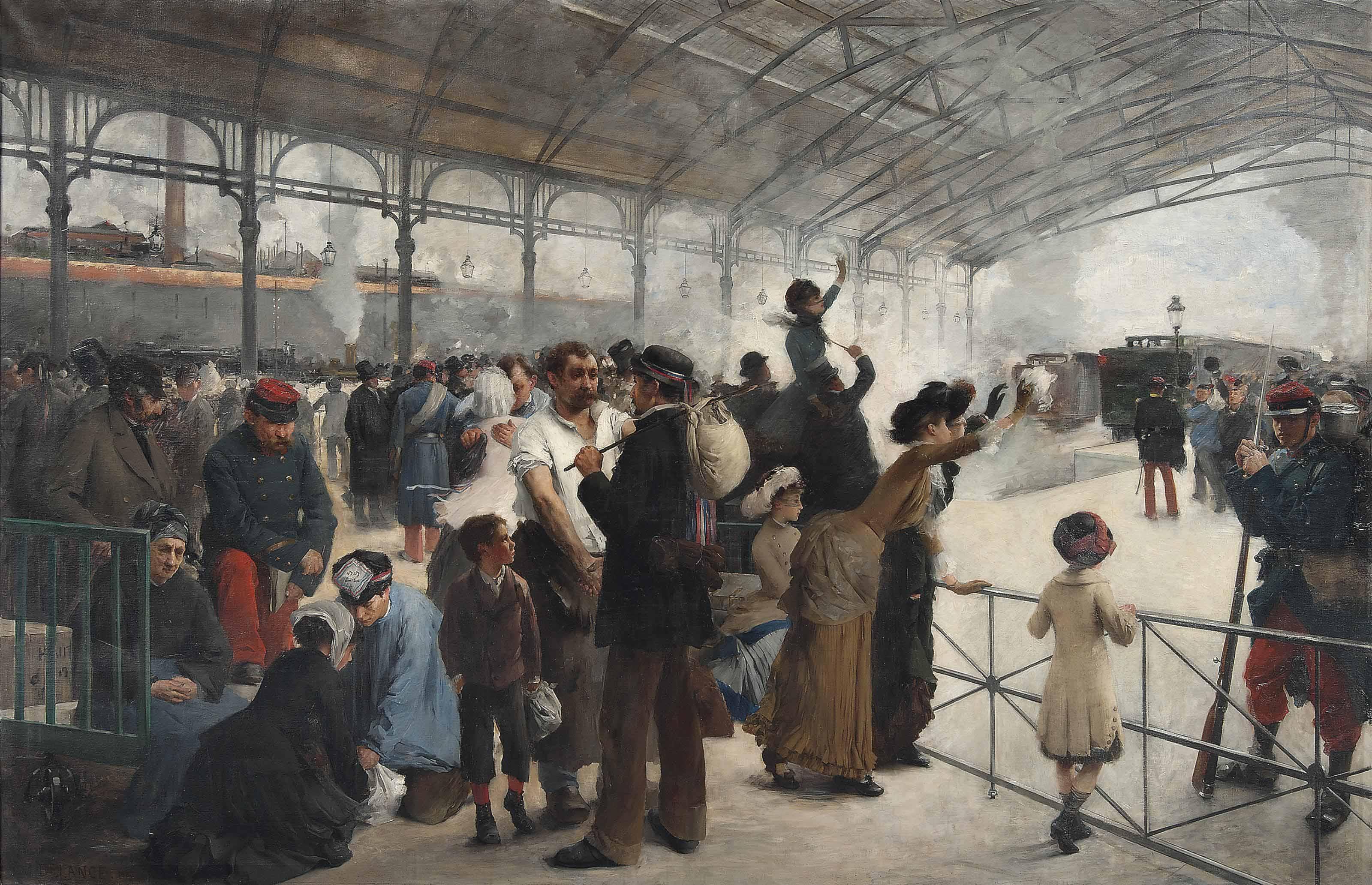 Le départ, Gare d'Austerlitz, Paris