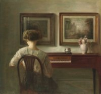 Young Lady at the spinet