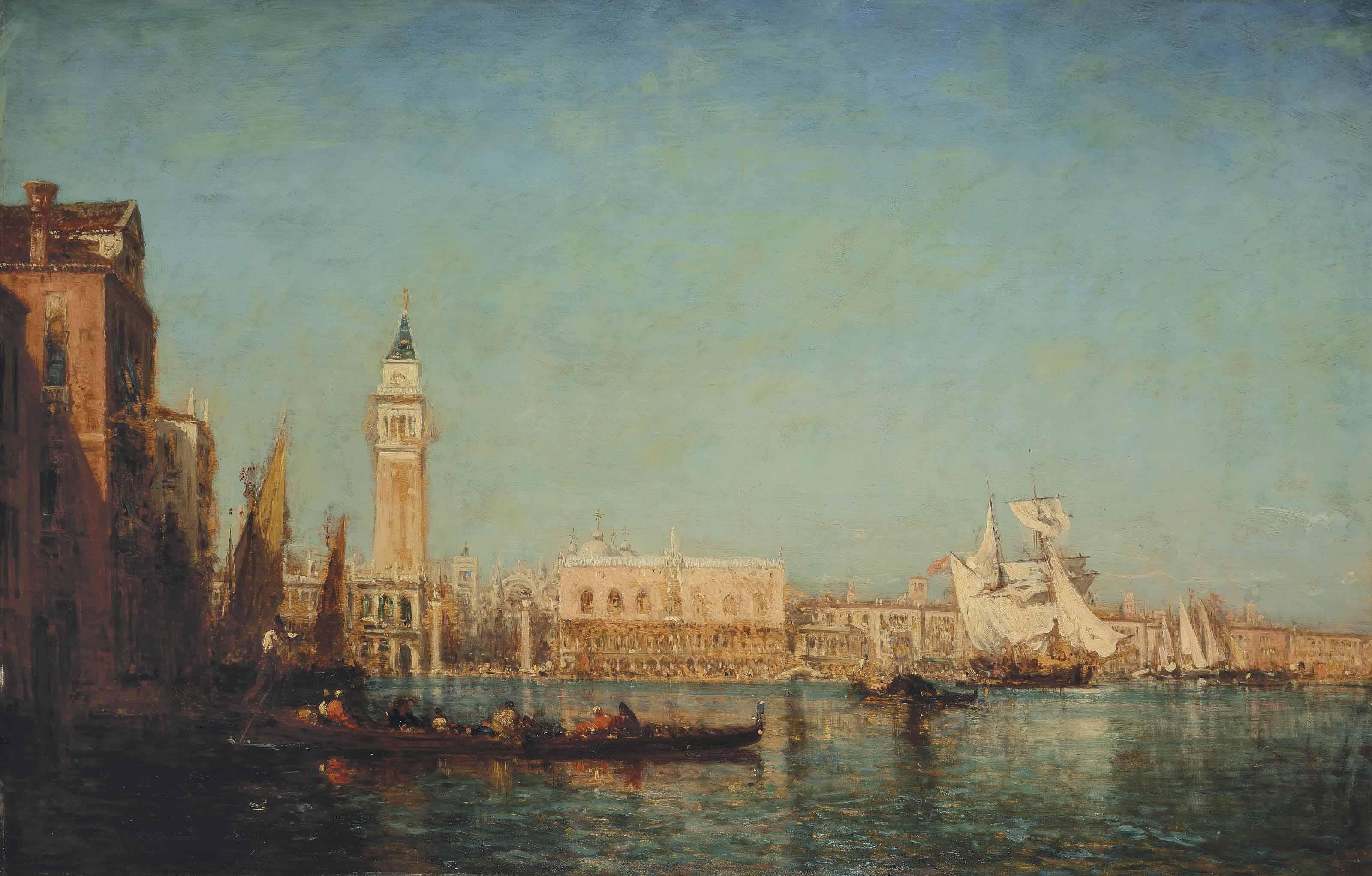 Le Palais des Doges vu du Canal de la Grazia, Venise