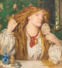 A woman combing her hair; Fanny Cornforth