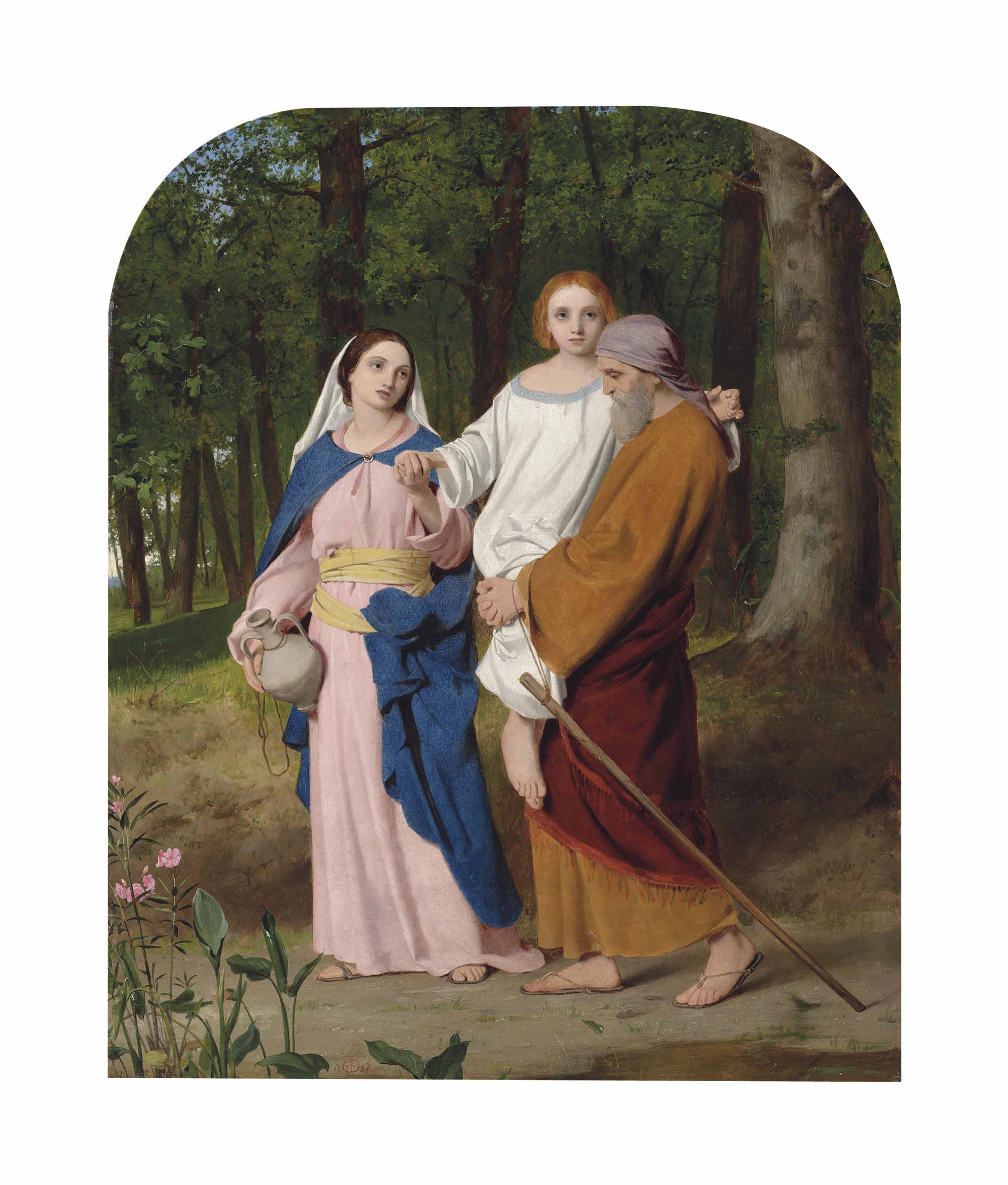 The Child Jesus going down with his parents to Nazareth (Luke ii)
