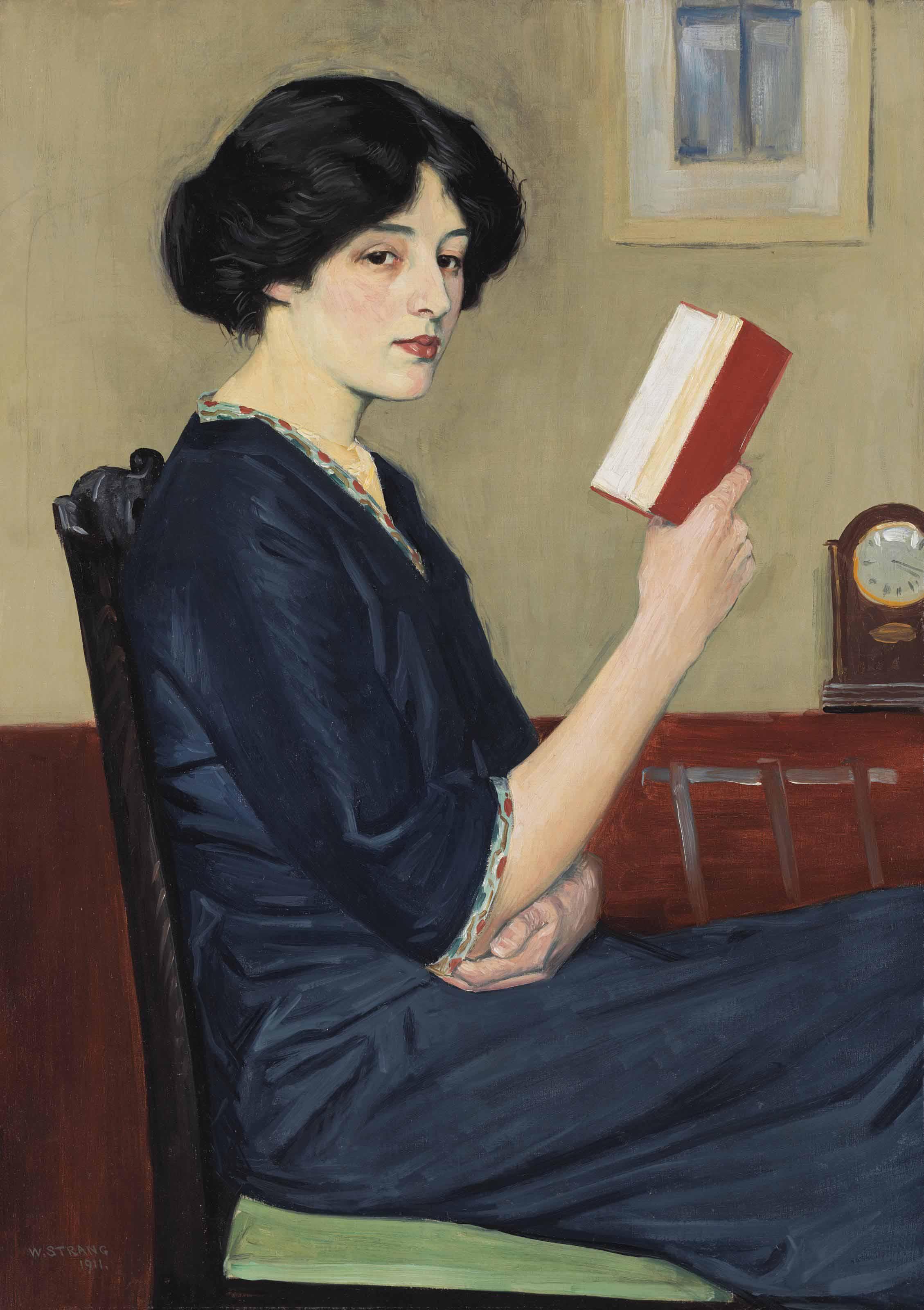 Girl reading. The Storyteller