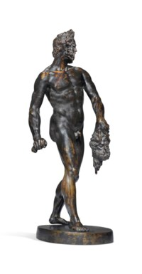 A BRONZE FIGURE OF AN EXECUTIONER