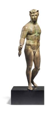 A ROMAN BRONZE MERCURY