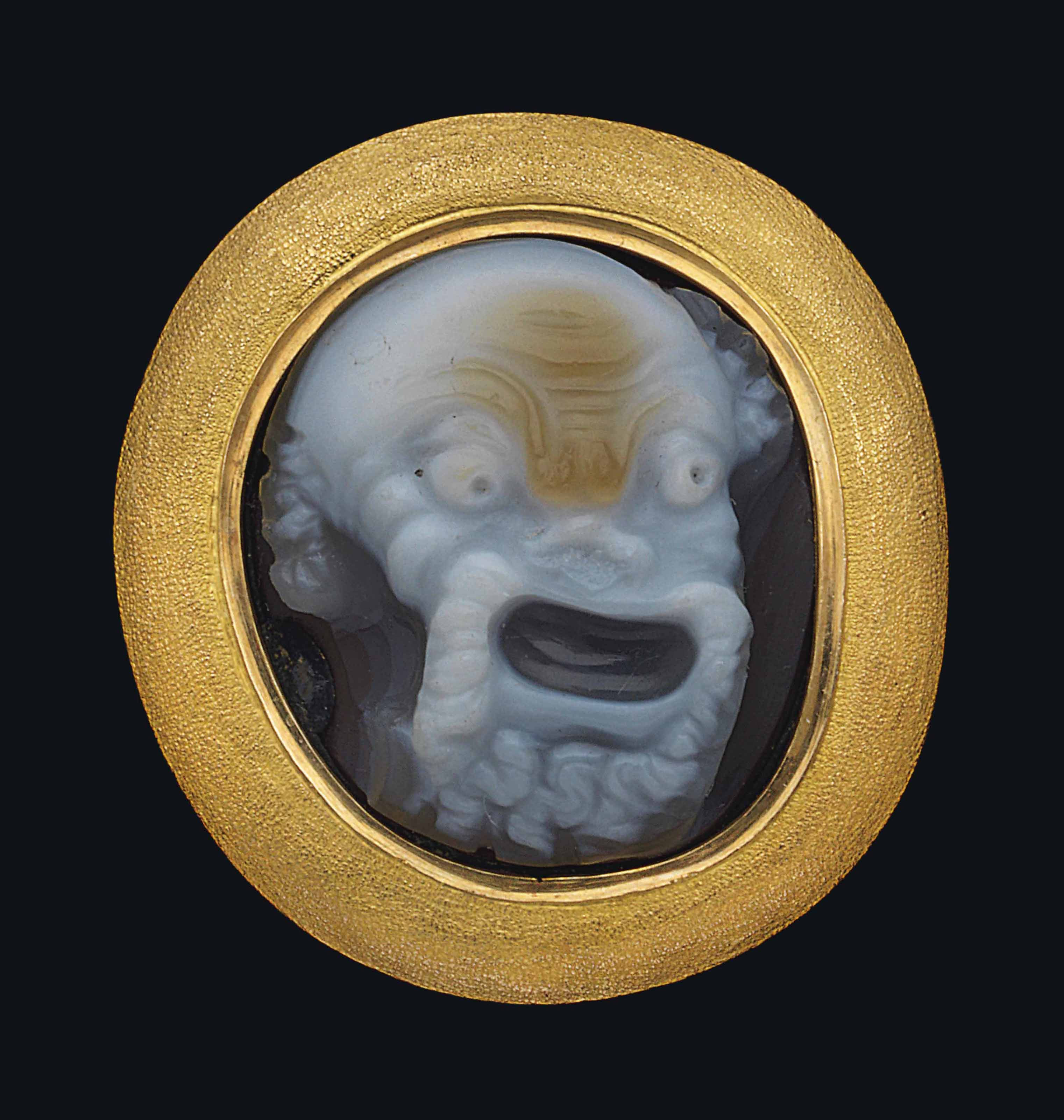 A GREEK SARDONYX CAMEO OF A NE