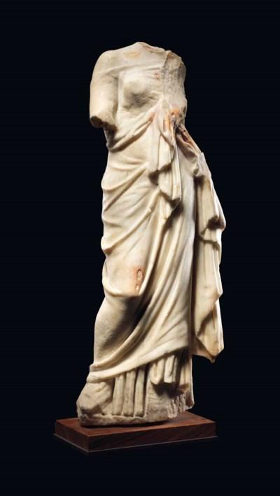 A ROMAN MARBLE GODDESS