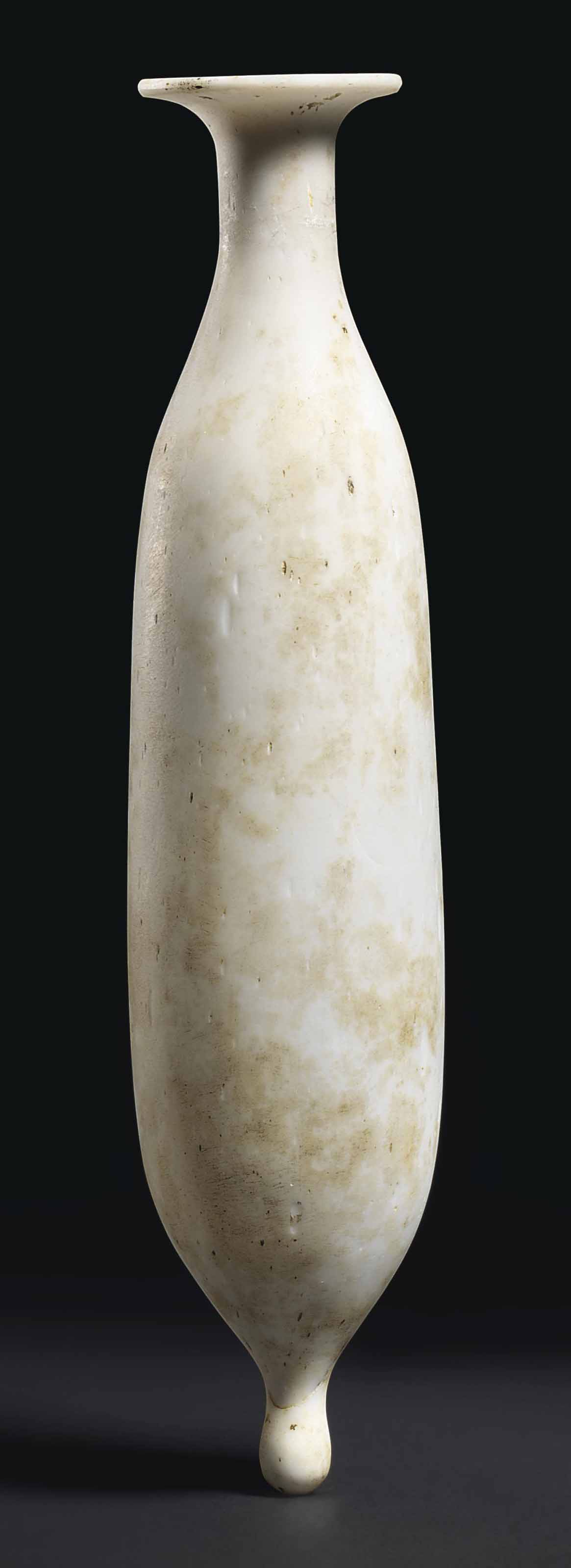 A ROMAN OPAQUE WHITE GLASS ALA