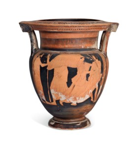 AN ATTIC RED-FIGURED COLUMN KRATER