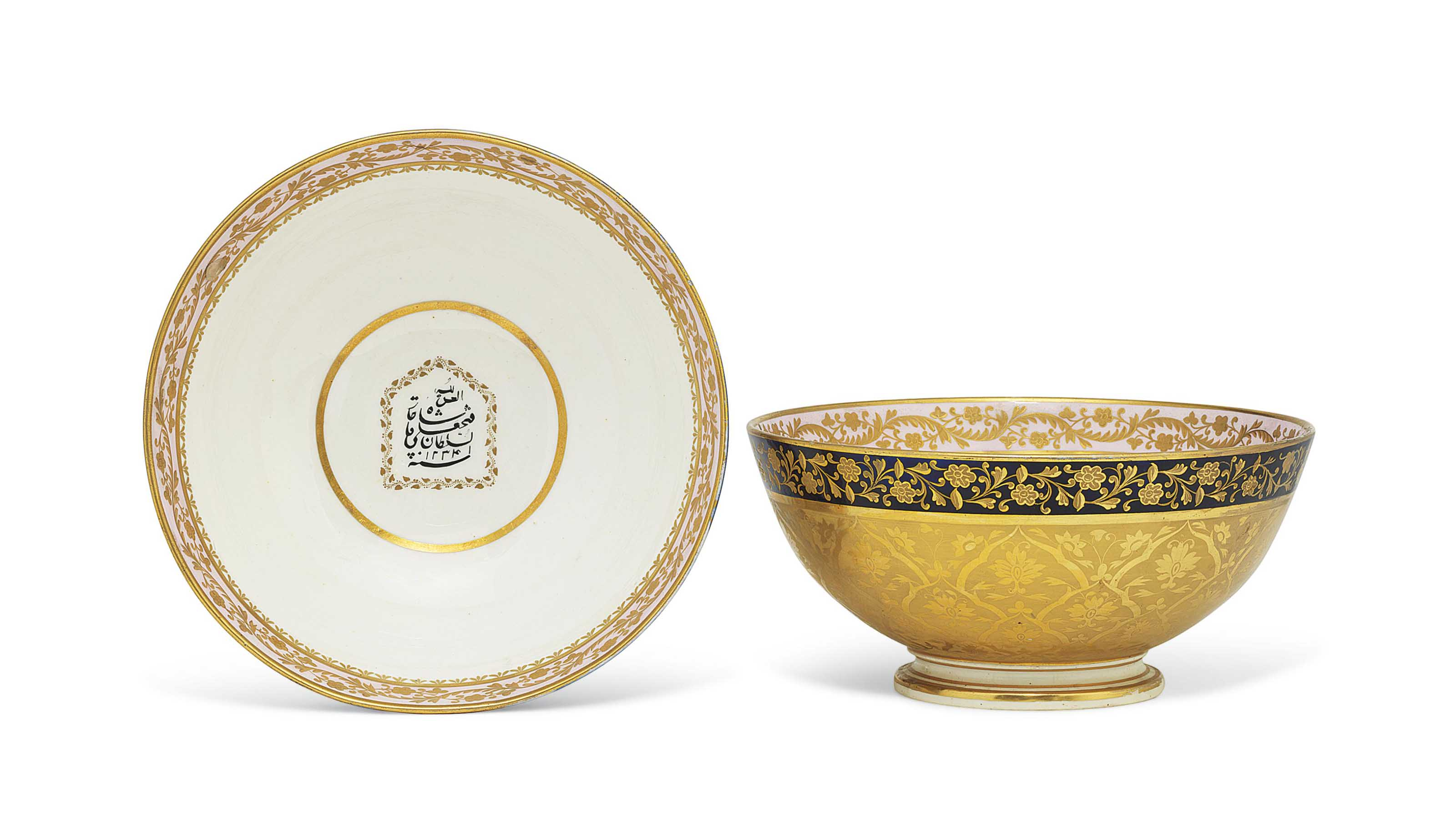 TWO DERBY BOWLS FROM THE SERVI