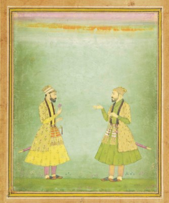 A DOUBLE PORTRAIT OF MUGHAL NO