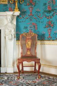 A GEORGE II RED AND GILT-JAPAN