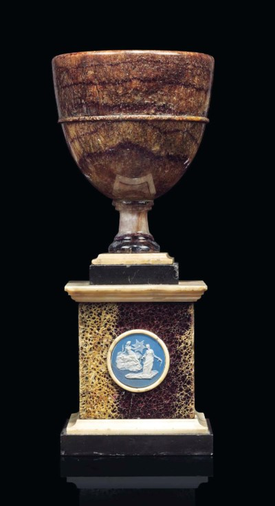 A GEORGE III BLUE JOHN CUP