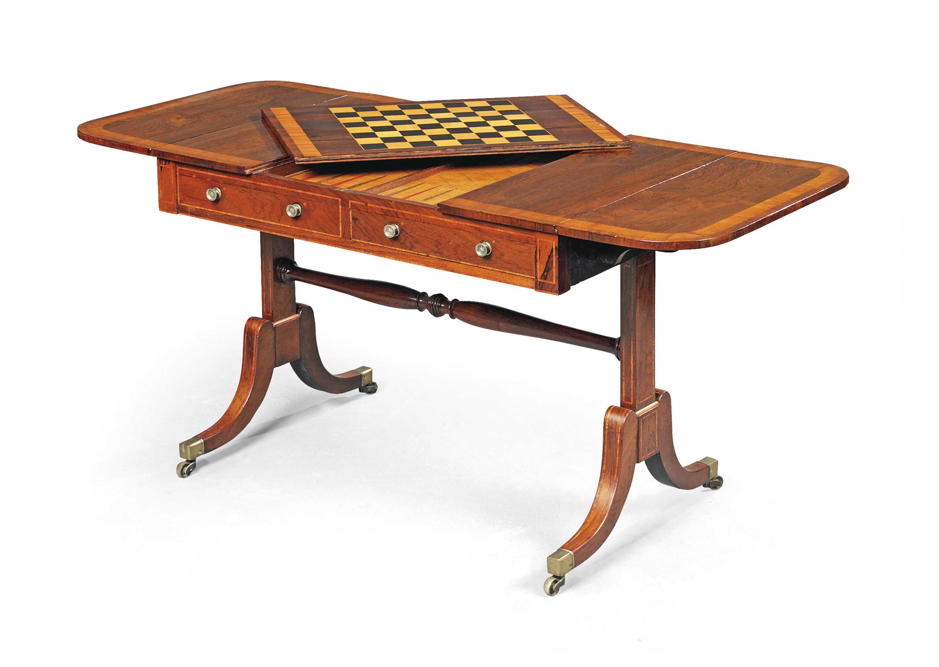 A REGENCY INDIAN ROSEWOOD AND