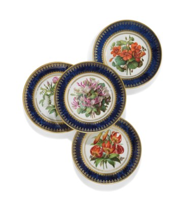 FOUR SEVRES (HARD PASTE) FAUX