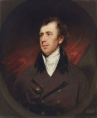 Portrait of Robert Fullerton, Governor of Penang and first Governor of the Straits Settlements, half length in a brown coat with white stock
