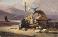 A tanka boat on the shore, Macao