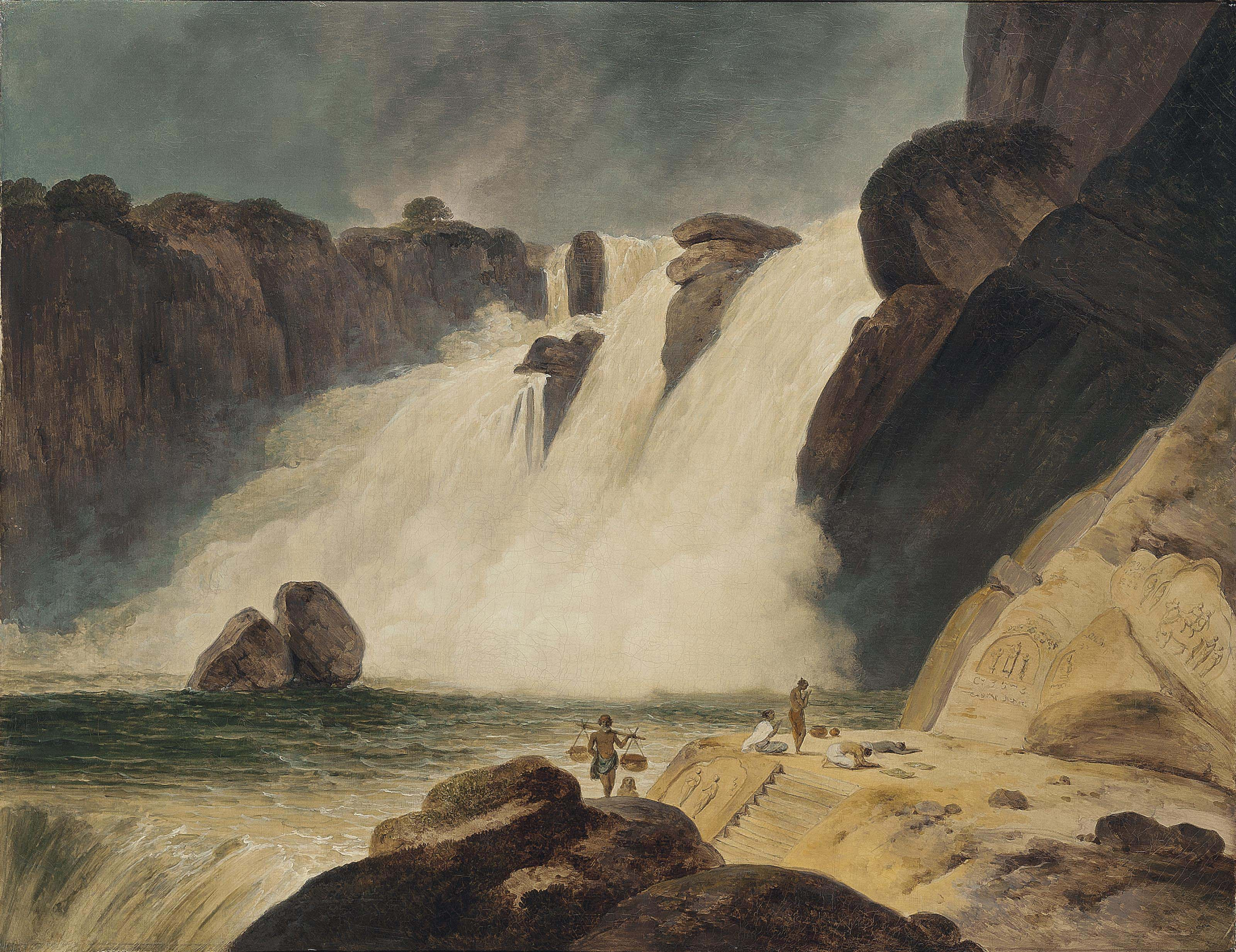 The Waterfall at Papanasam, Tinnevelly District (Tamil Nadu)