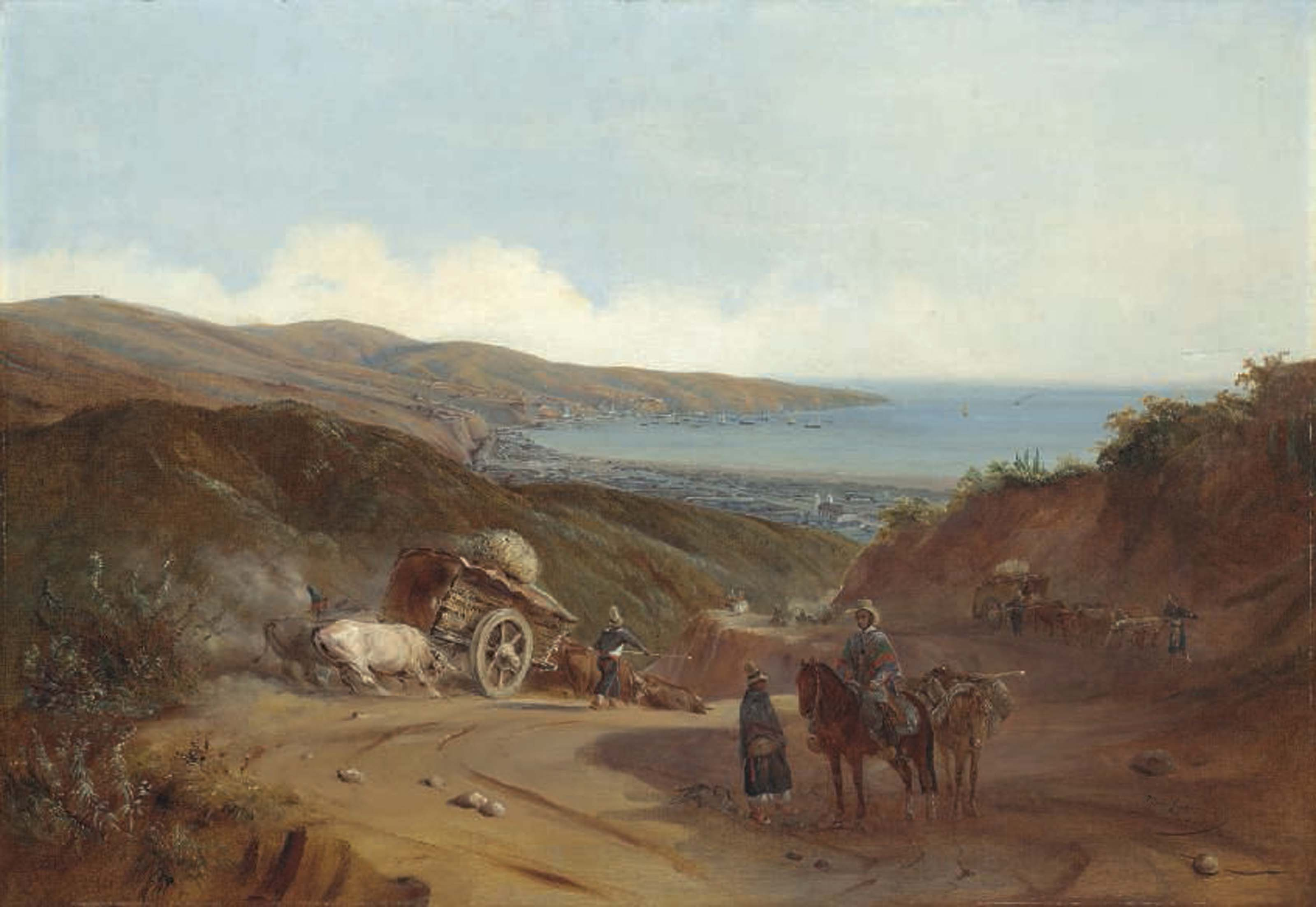 Valparaíso from the Santiago road