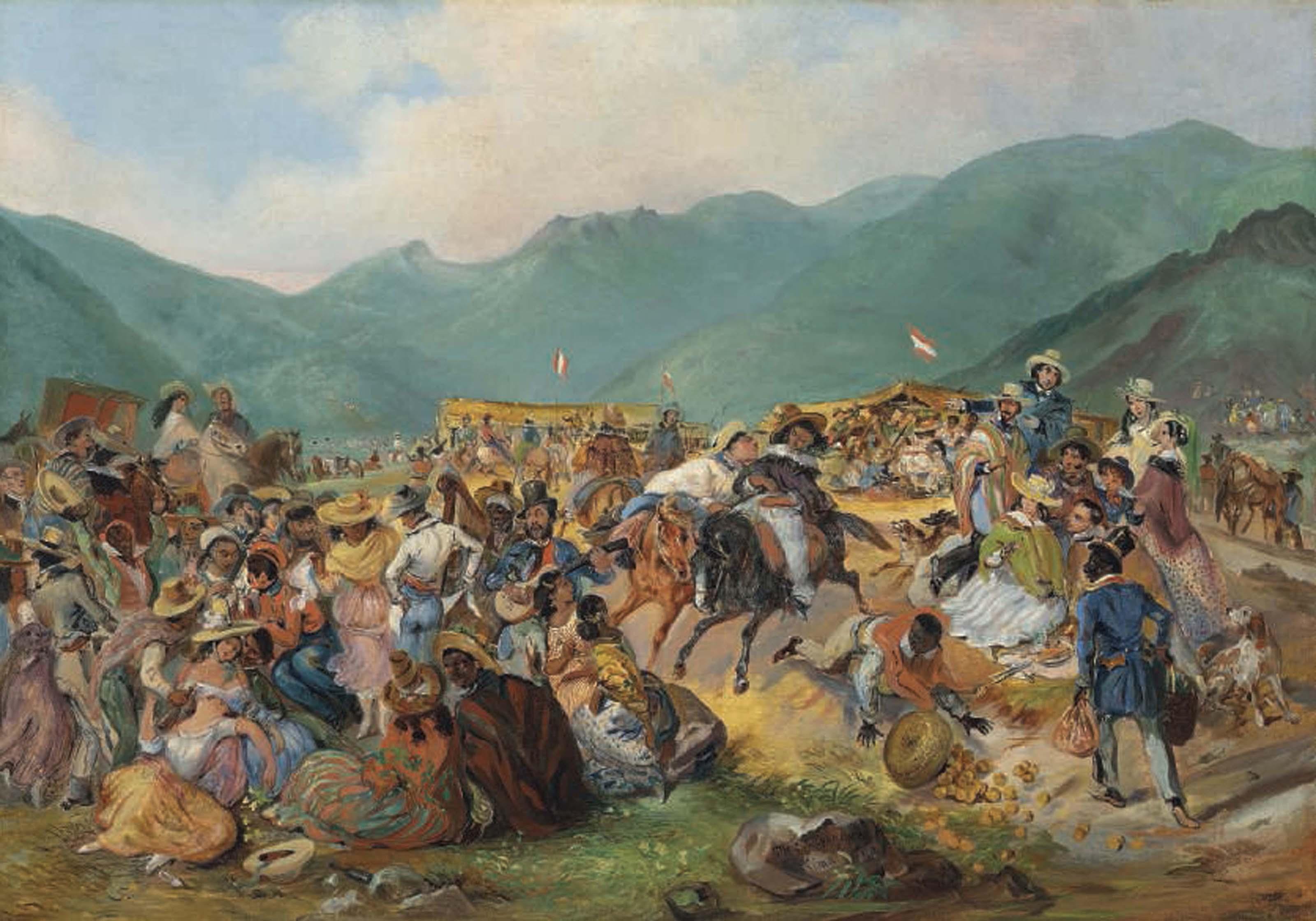 The fiesta of San Juan in Amencaes
