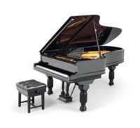 A GERMAN EBONISED 'MODEL B' GRAND PIANO