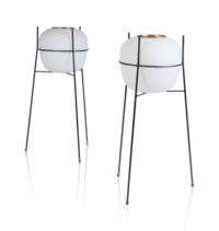 A PAIR OF FLOOR LAMPS
