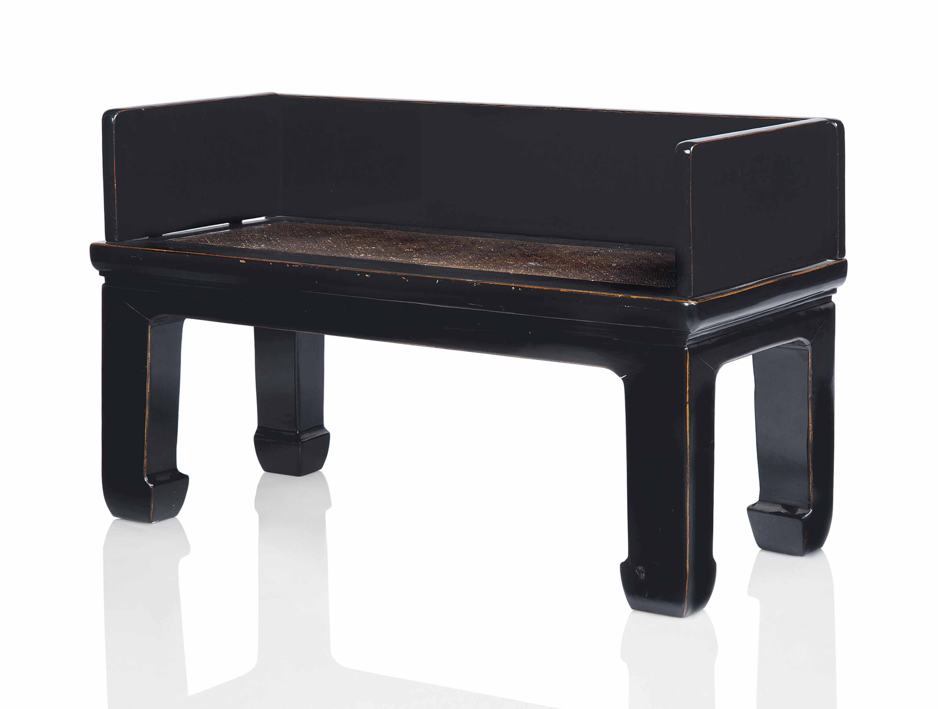 Excellent A Chinese Black Lacquered Bench 20Th Century Christies Pdpeps Interior Chair Design Pdpepsorg
