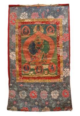 TWO THANGKAS DEPICTING BUDDHA