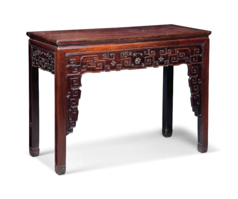 A CHINESE ROSEWOOD SIDE TABLE