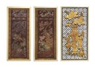 A PAIR OF JAPANESE INLAID LACQ