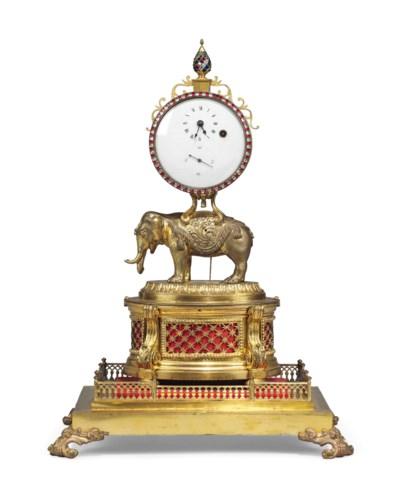 A CHINESE ORMOLU TIMEPIECE TAB