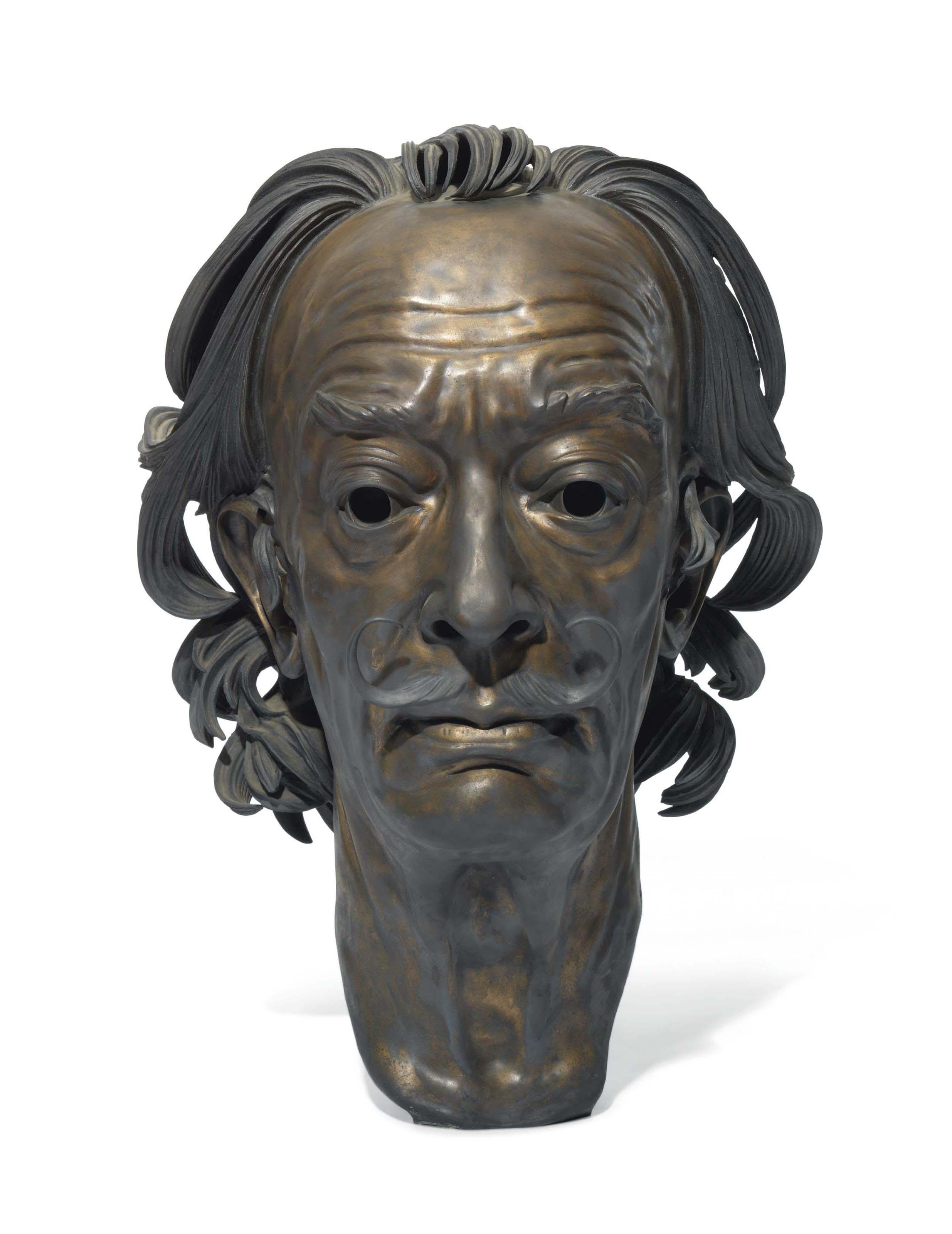 Portrait bust of Salvador Dalí