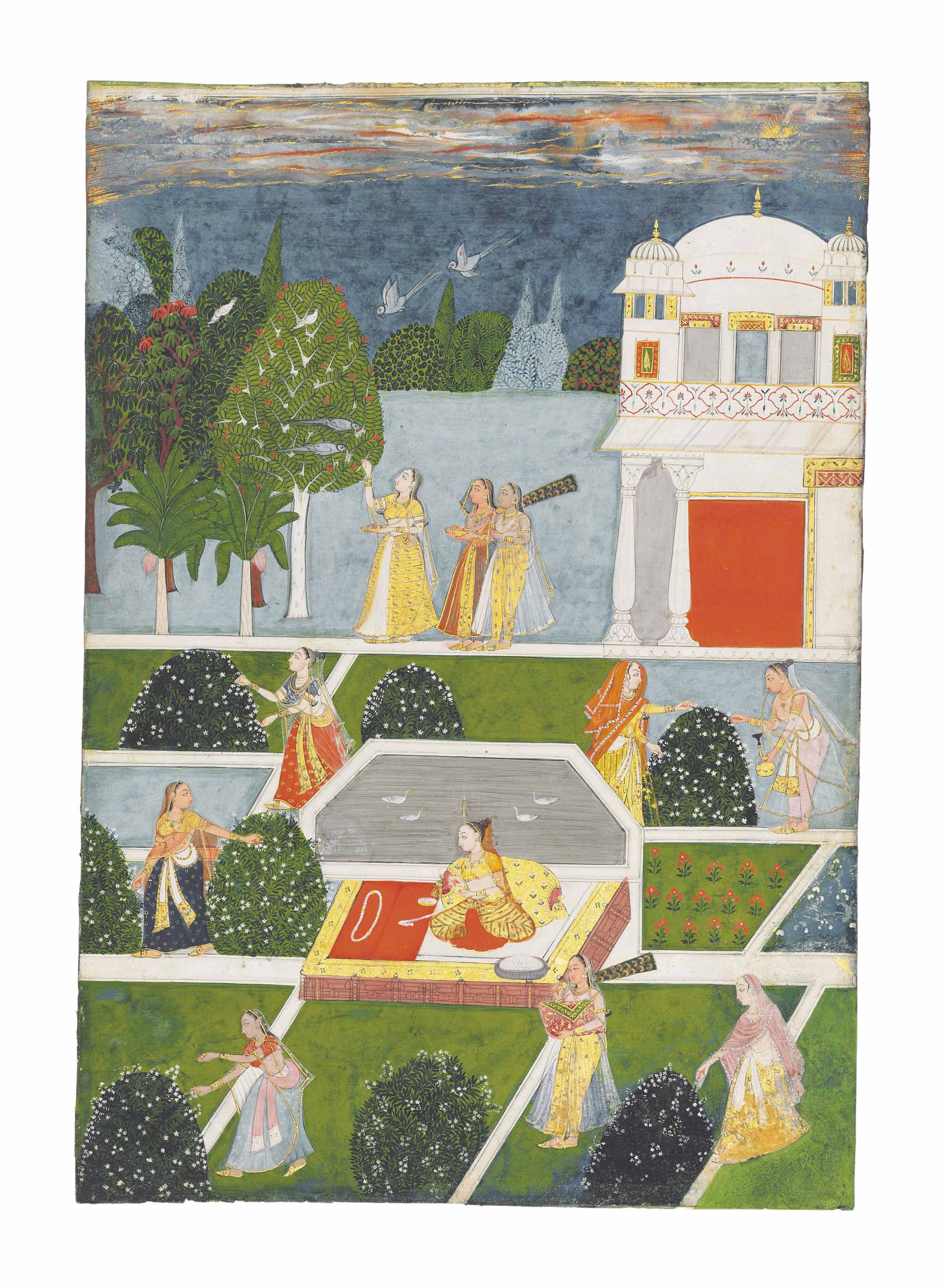 A LARGE ILLUSTRATION TO A RAGA