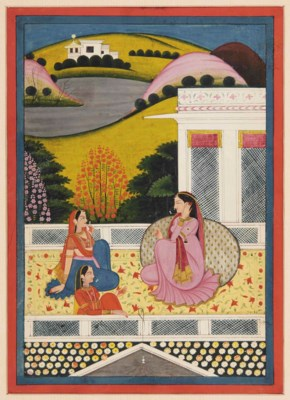 RADHA ON A TERRACE