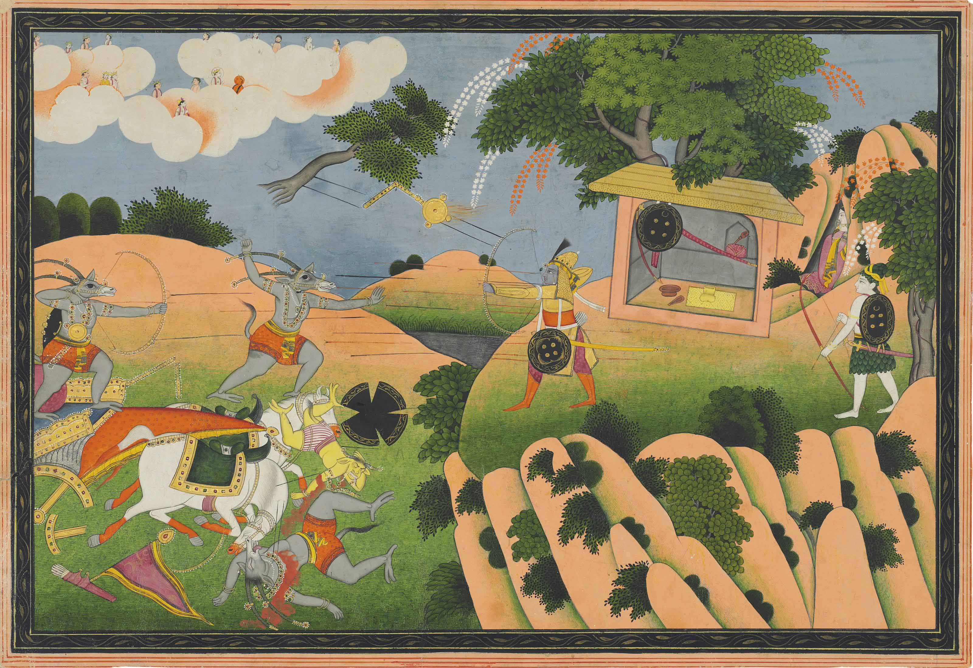 AN ILLUSTRATION TO THE RAMAYAN