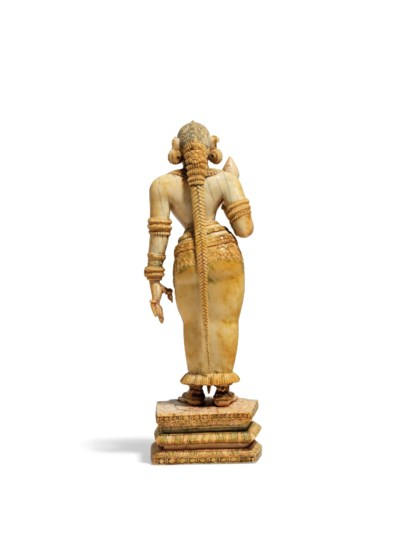 A RARE IVORY FIGURE OF PARVATI