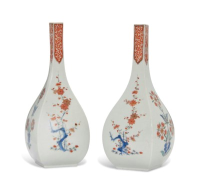 TWO MEISSEN KAKIEMON BALUSTER