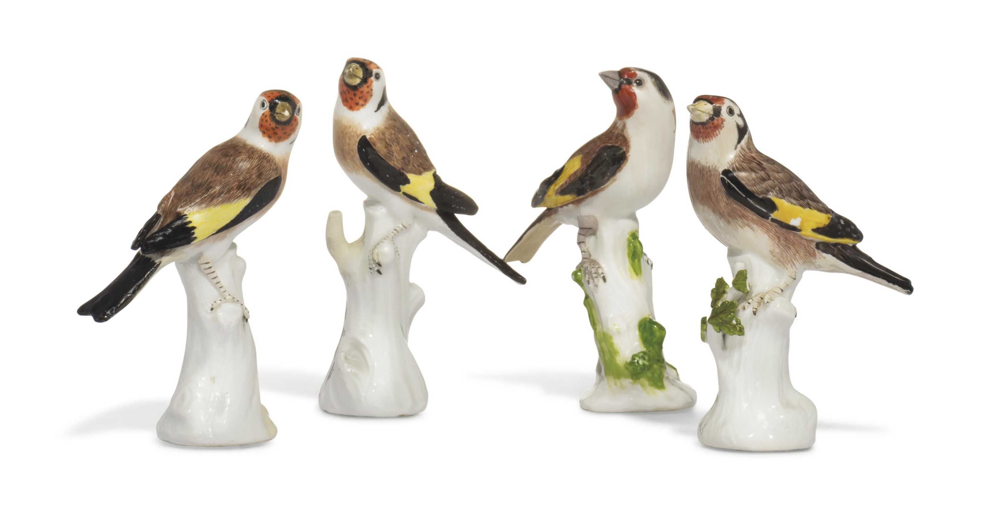 TWO PAIRS OF MEISSEN MODELS OF