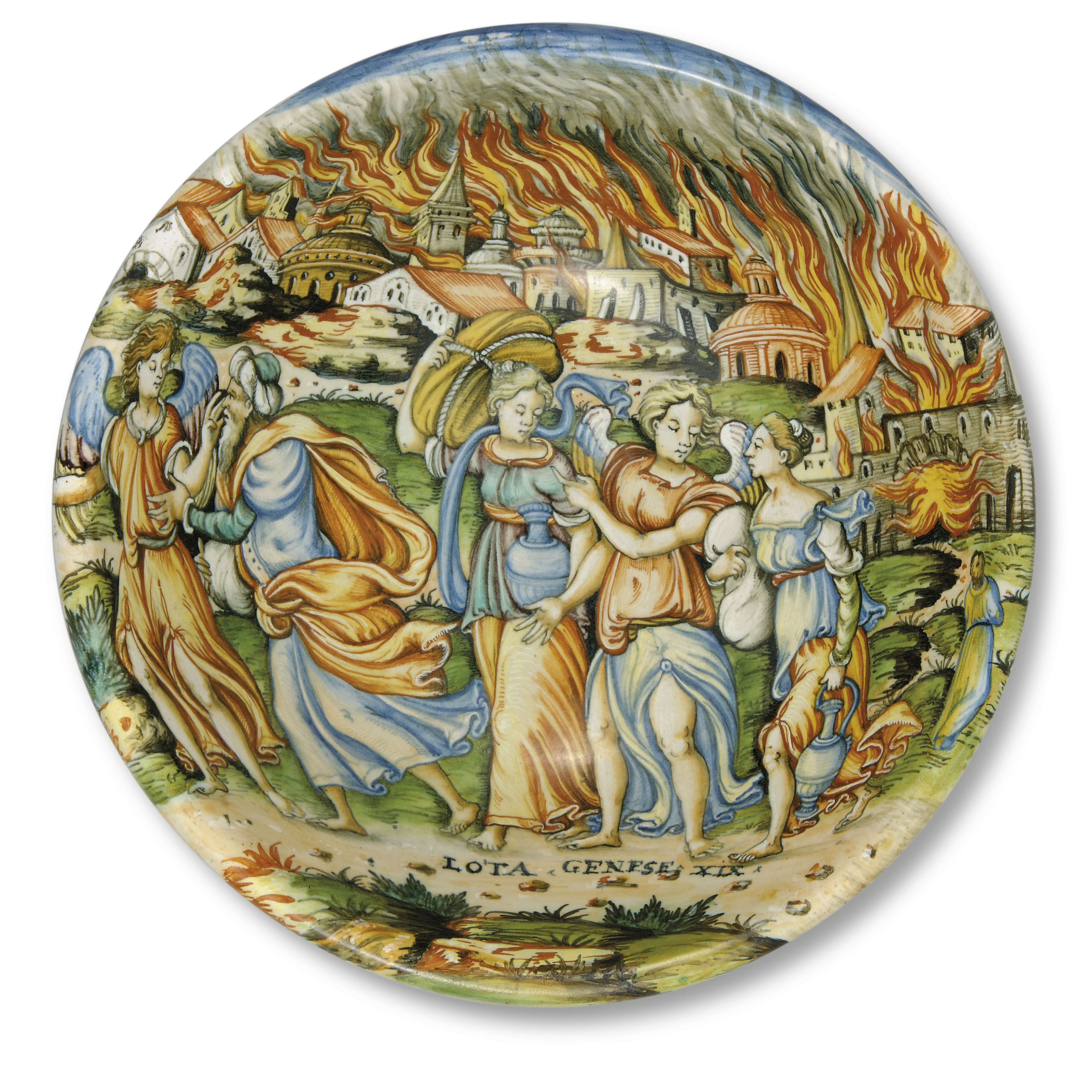 AN ITALIAN OR FRENCH MAIOLICA