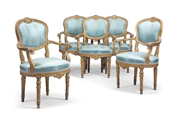 A SET OF SIX ITALIAN GILTWOOD