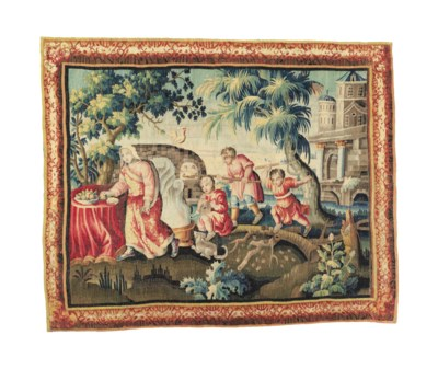 A LOUIS XIII PASTORAL TAPESTRY