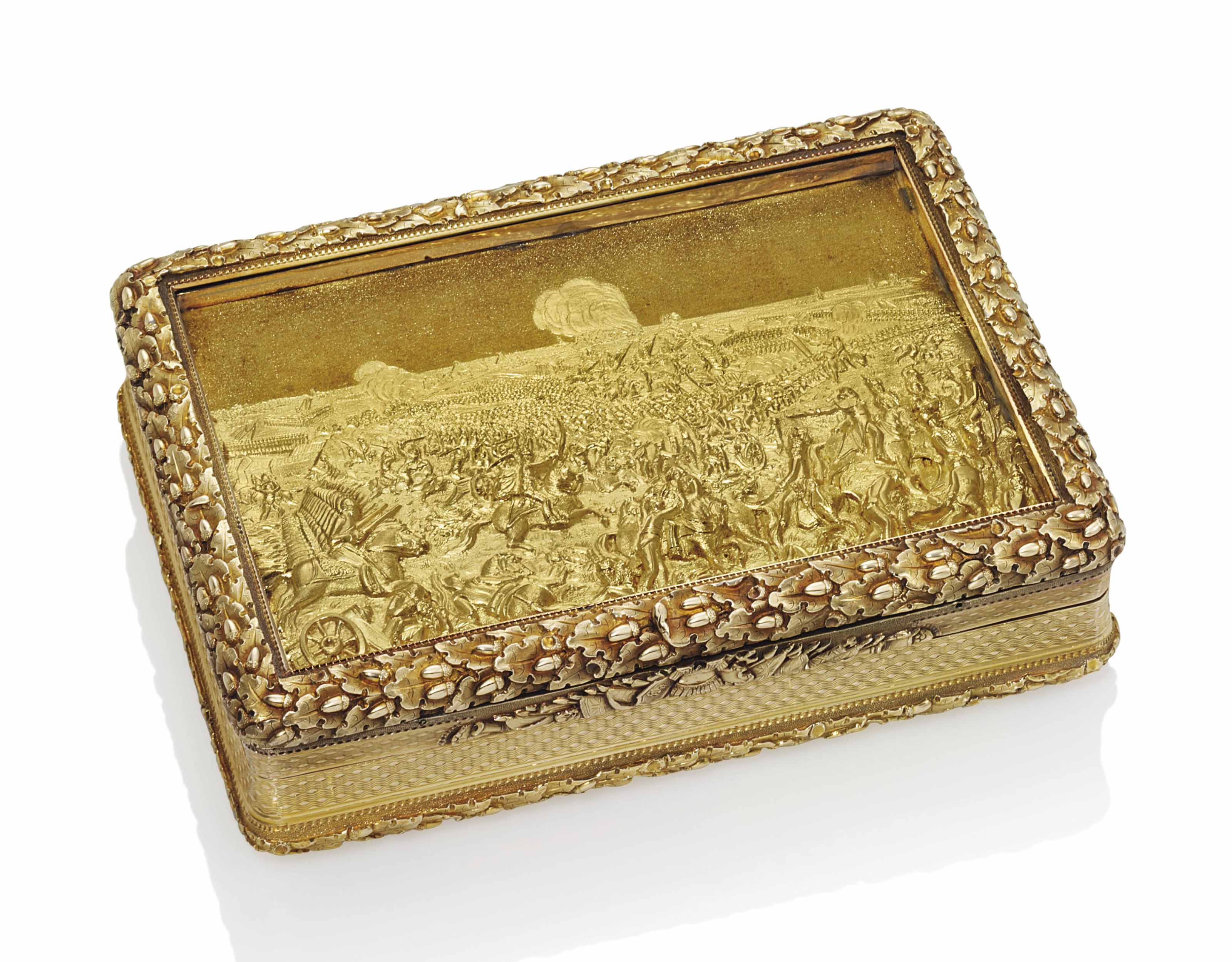 A REGENCY GOLD PRESENTATION SNUFF-BOX