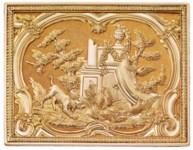 A GERMAN VARI-COLOUR GOLD SNUF
