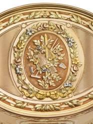 A LOUIS XV VARI-COLOUR GOLD SN