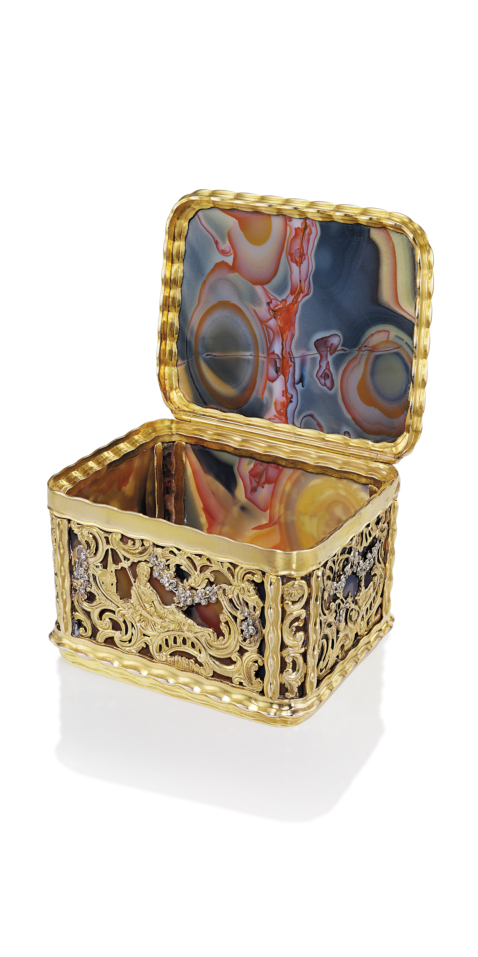 A GERMAN JEWELLED GOLD AND HAR