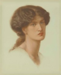 Portrait of Jane Morris, bust-length