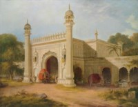 The gate of Serai, at Chandpore, in the Rohilla district, East Indies