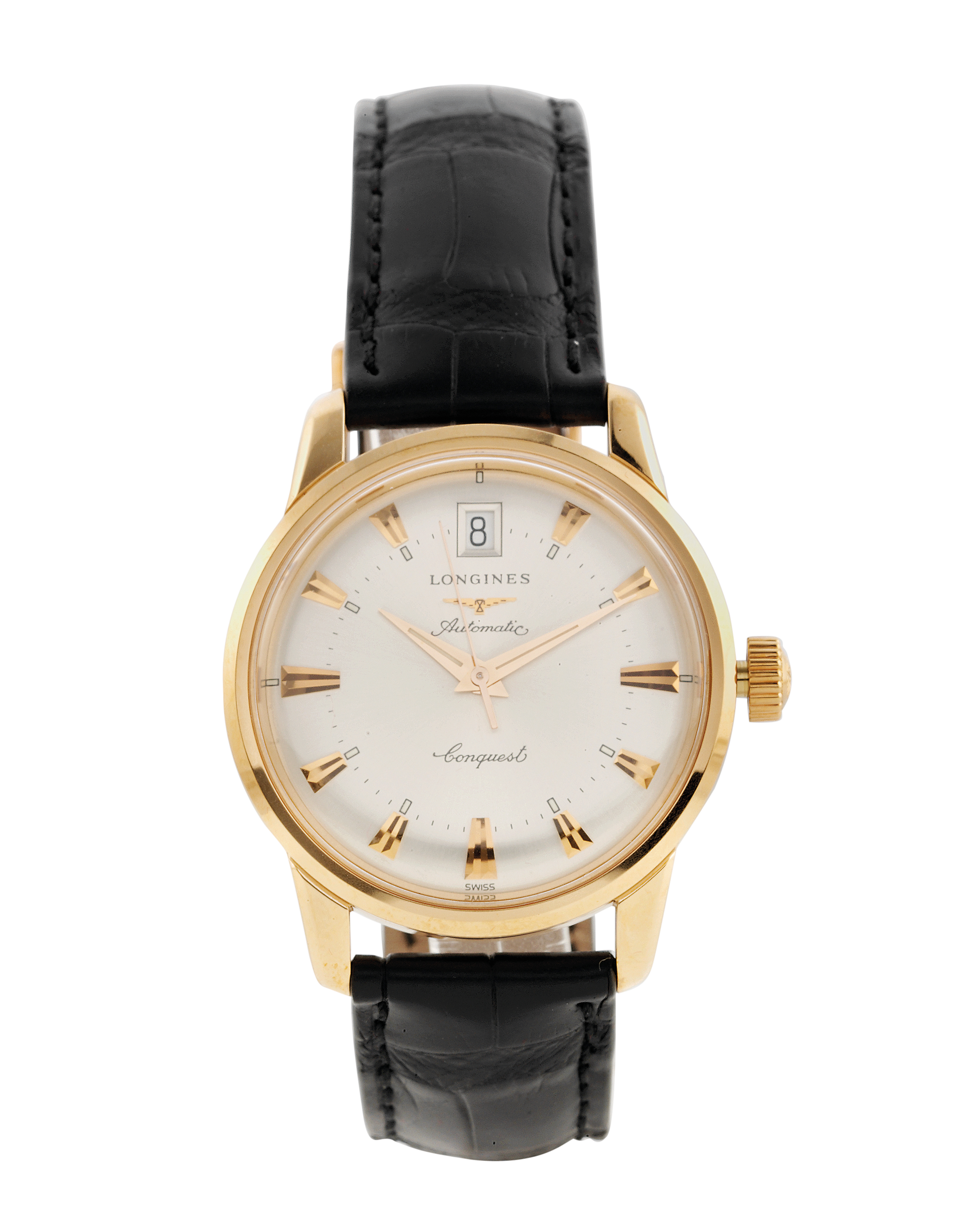 18 Carat Rose Gold: Longines 'Conquest Heritage', 18-carat Rose Gold Automatic