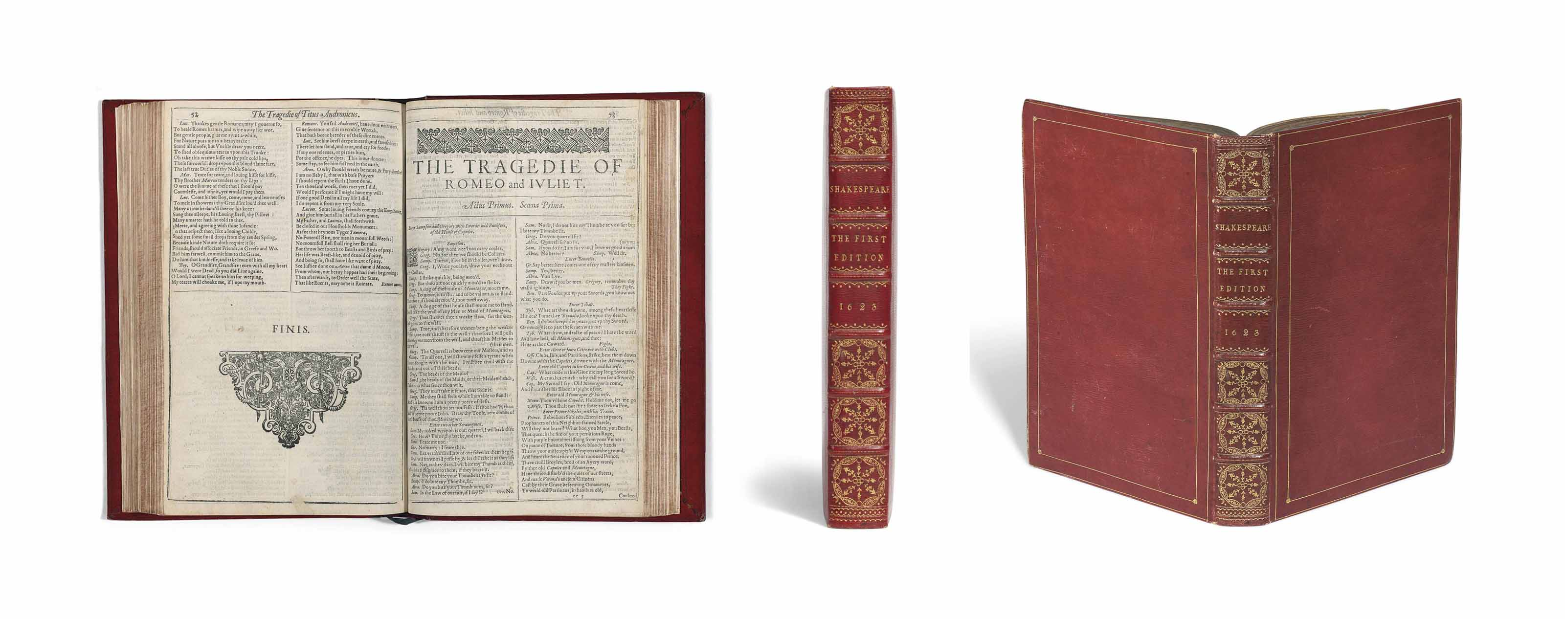 SHAKESPEARE, William (1564-1616). Comedies, Histories, and Tragedies, edited by John Heminge (d. 1630) and Henry Condell (d. 1627). London: Isaac Jaggard, and Edward Blount at the Charges of W. Jaggard, Ed. Blount, I. Smithweeke, and W. Aspley, 1623.